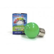 LED 인지구 초록색 2W